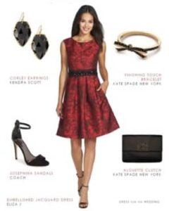 accesorios para vestido de fiesta rojo