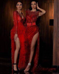 vestido rojo de fiesta barato y elegante