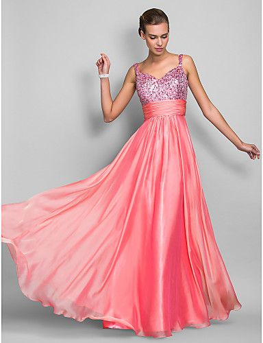 vestidos de baile para fiesta largo rosa