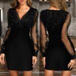 vestido para fiesta barato online negro