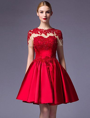 vestido para fiesta corto rojo de vuelo